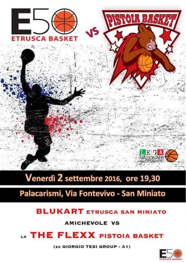 Etrusca Basket e Pistoia Basket 2000 insieme per le popolazioni terremotate